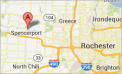 Map for Our Touch Inc in Spencerport NY